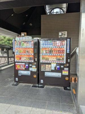 柴又公園には自販機もあり
